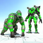 Gorilla Rampage City Attack Robot Transform Games MOD Unlimited Money 1.5