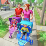 Virtual Mother New Baby Twins Family Simulator MOD Unlimited Money 2.1.6