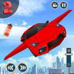 Flying Car Shooting Game Modern Car Games 2020 MOD Unlimited Money 1.1