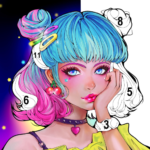 Flora Coloring Color by Number Painting Game MOD Unlimited Money 1.0.7