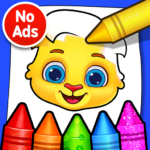 Coloring Games Coloring Book Painting Glow Draw MOD Unlimited Money 1.1.1