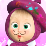 Masha and the Bear Free Coloring Pages for Kids MOD Unlimited Money 1.7.6