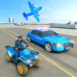 USA Police Car Transporter Games Airplane Games MOD Unlimited Money