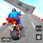 Police Bike Stunt Games Mega Ramp Stunts Game MOD Unlimited Money